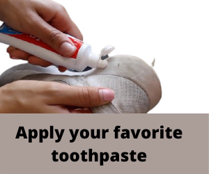 Apply your favorite toothpaste