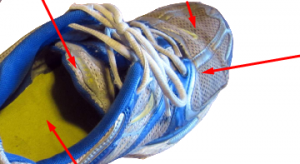 Shoes with Toe holes Prevention Inserts