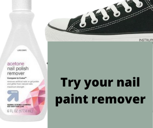 Try your nail paint remover