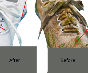 how to clean the bottom of shoes to look new